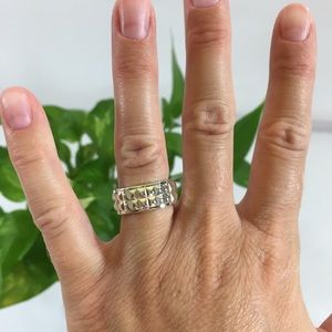 Tiffany & Co. Double Stud Ring 5.25